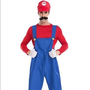 Mario costume one size fits most. Used once